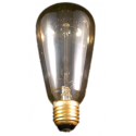 Deco-230V 60Wclear 19- support brass base