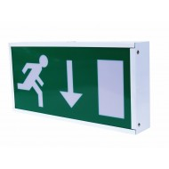 Emergency Exit Box 8W T5 Non maintained c/w Down Ar- row legend